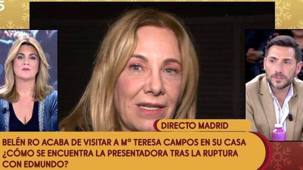 Foto: Belén Ro conecta con 'Sálvame'. (Mediaset)