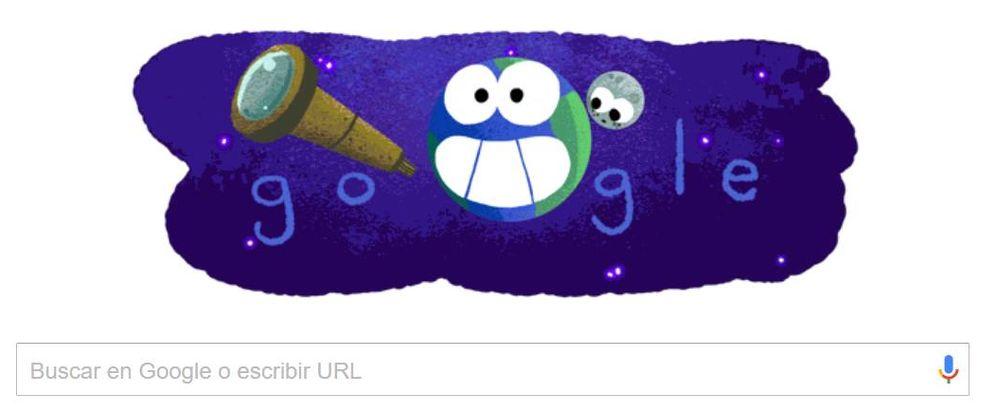 Foto: El 'doodle' que Google dedica al descubrimiento de los exoplanetas anunciado por la NASA (Google)