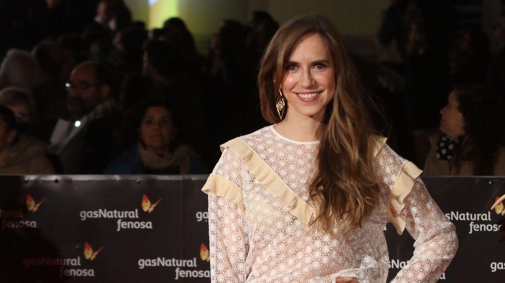 Foto: Aina Clotet en la alfombra roja del Festival de Cine de Málaga. (Cordon Press)