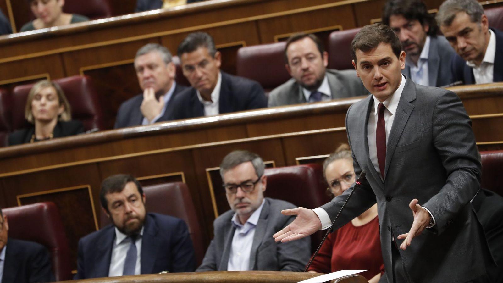Foto: El líder de Ciudadanos, Albert Rivera, en el Congreso de los Diputados. (EFE)