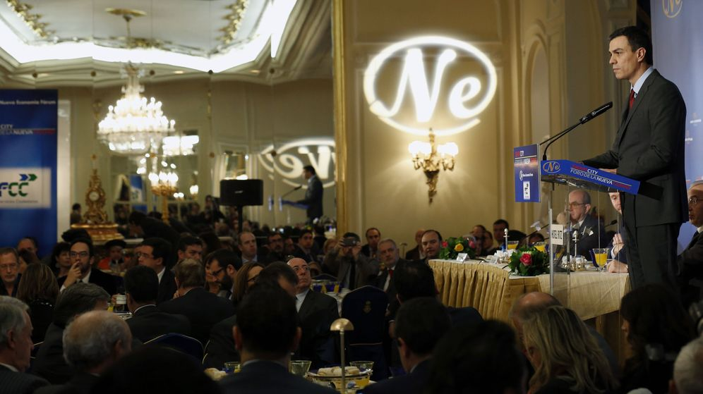 Foto: Pedro Sánchez en un desayuno informativo. (EFE)