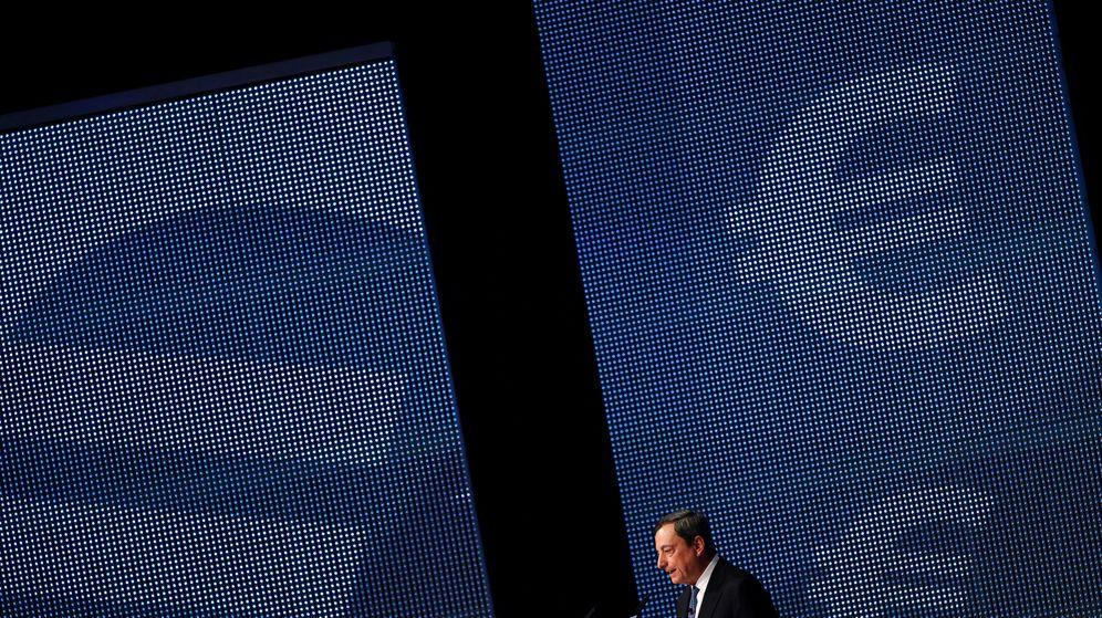Foto: El presidente del BCE, Mario Draghi, en un acto celebrado en Fráncfort./REUTERS