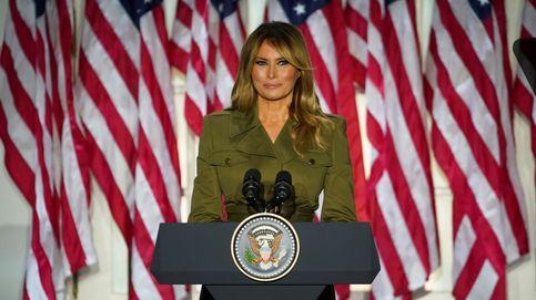El look militar de Melania Trump para defender a su marido ante su partido