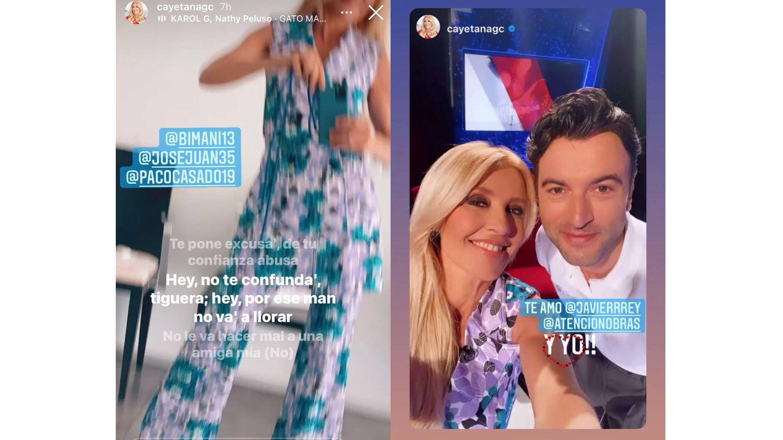 Cayetana Guillén Cuervo y Javier Rey.  (Instagram)