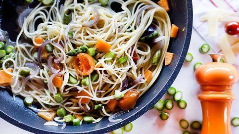 Receta: espaguetis de la huerta en su salsa, pasta primaveral muy apetecible