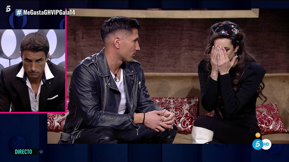 Foto: Gianmarco y Adara, en 'GH VIP 7'. (Telecinco)