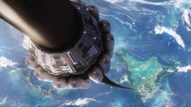 Foto: Diseño de un ascensor espacial (Glenn Clovis)