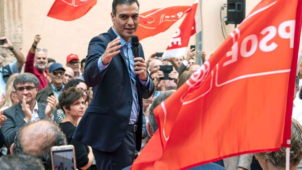 Foto: El líder del PSOE, Pedro Sánchez, en un acto del partido en Palma de Mallorca. (EFE)