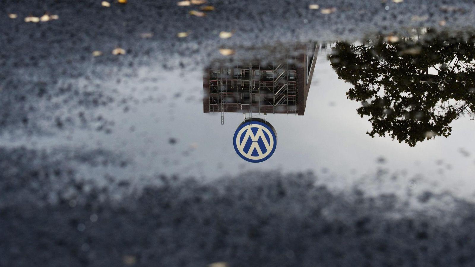 Foto: Imagen del logo de Volkswagen en Wolfsburgo, Alemania. (EFE)