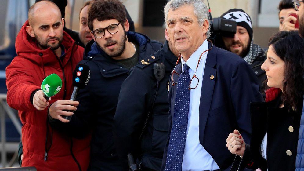 Foto: Ángel María Villar, el pasado febrero en la Audiencia Nacional. (EFE)