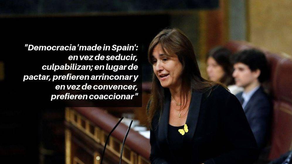 Foto: La portavoz de JxCat en el Congreso, Laura Borràs, durante su intervención. (Efe)
