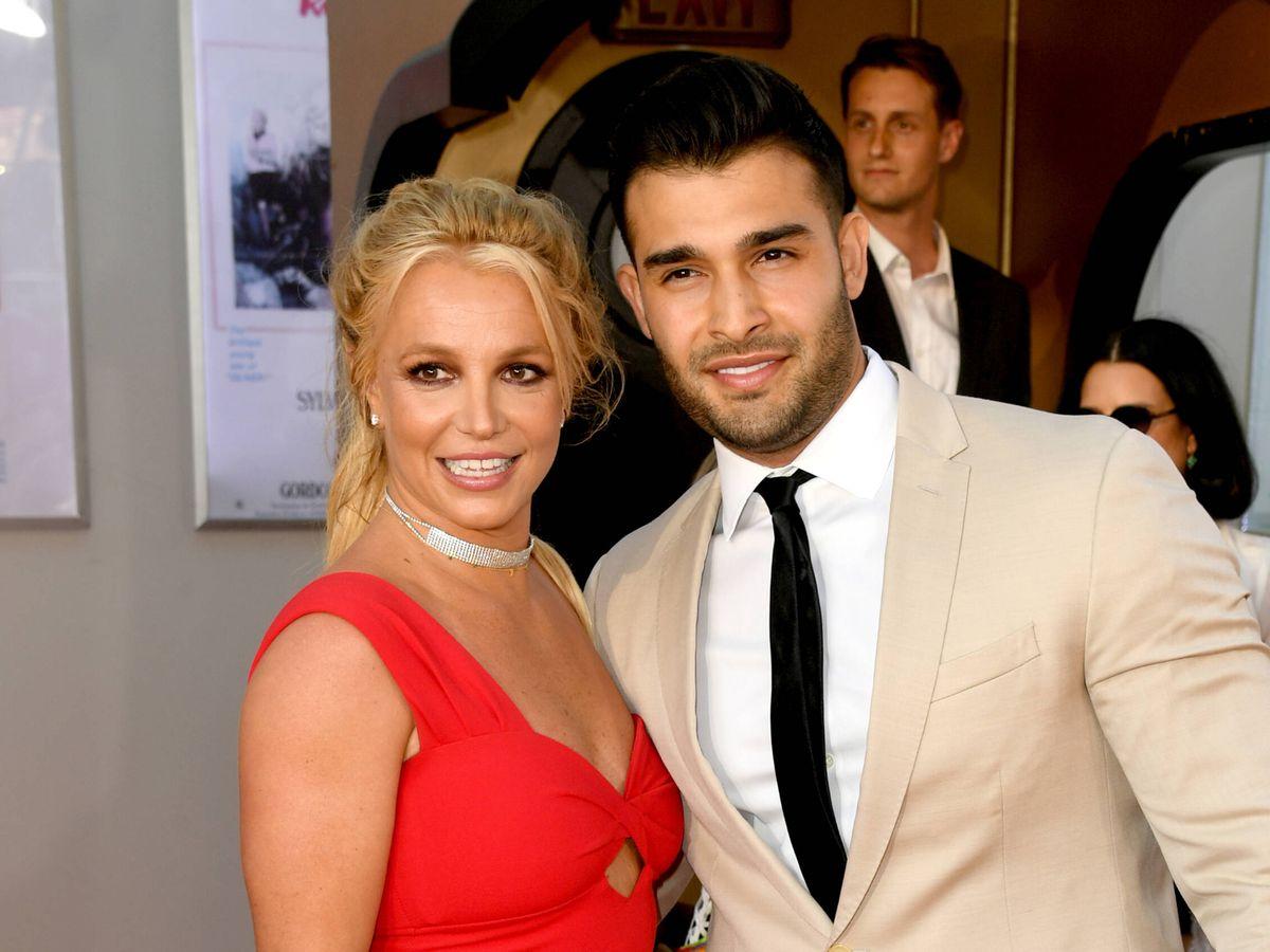 Foto: Britney Spears y Sam Asghari, en una foto de archivo. (Getty)