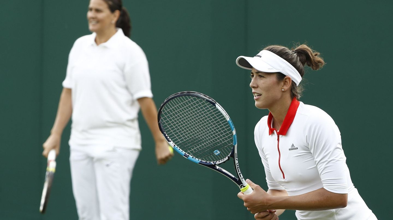 Muguruza entrena a las órdenes de Conchita en Wimbledon 2017. (EFE)