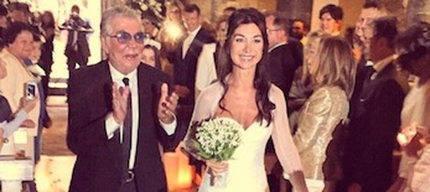 Foto: El diseñador Roberto Cavalli en una imagen de la boda publicada en su blog personal