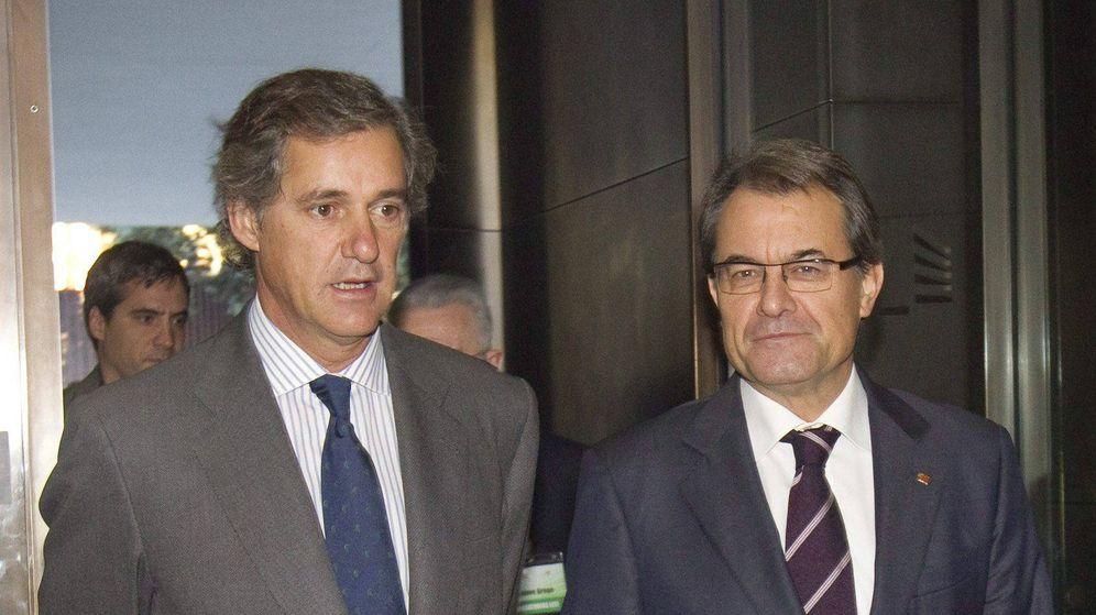 Foto: El presidente de Acciona José Manuel Entrecanales y Artur Mas. (EFE)