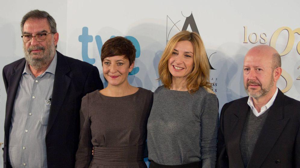 Foto: Eva Cebrián (2d), en los Premios Goya de 2013. (Wikimedia Commons)
