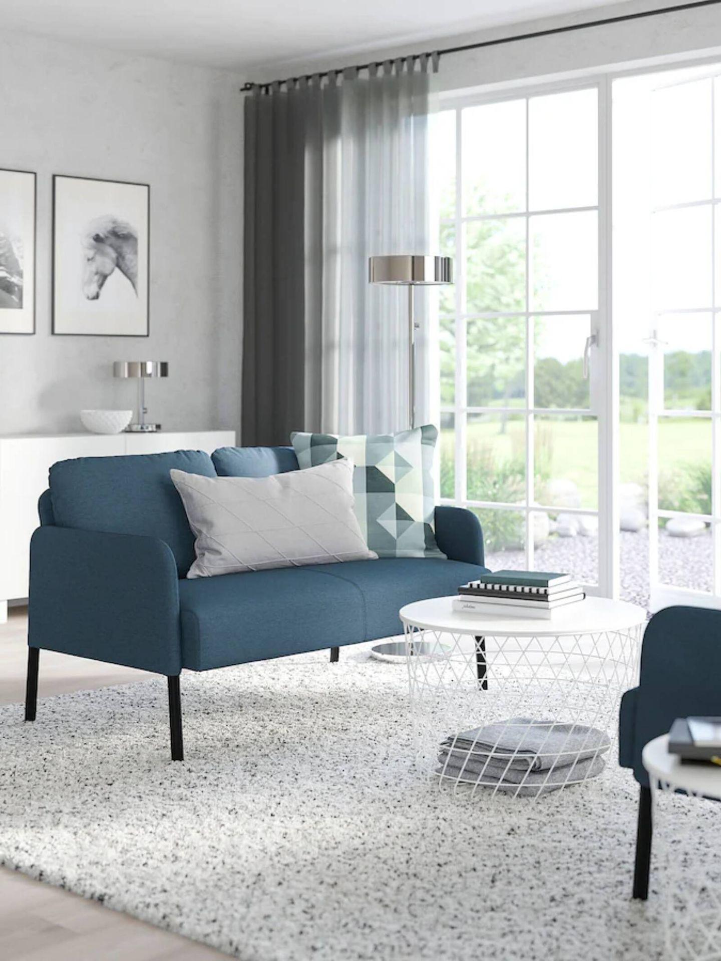 Sofá de Ikea para salones pequeños. (Cortesía)