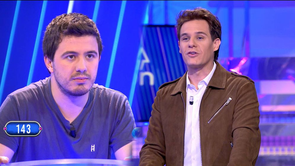 Foto: Orestes y Christian Gálvez, en 'El tirón'. (Telecinco)