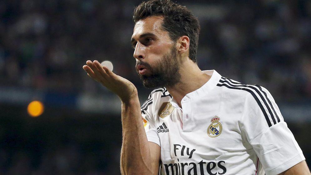 Foto: Arbeloa celebrando un gol en el Santiago bernabéu. (EFE)