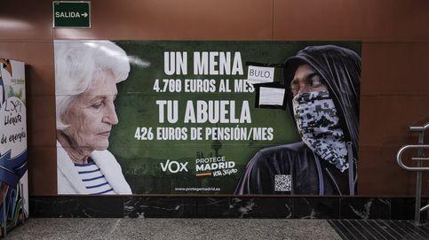 La Justicia avala el cartel de Vox sobre los menores no acompañados: Son un problema social