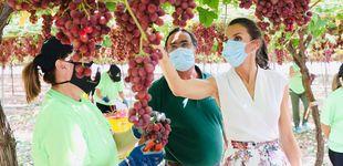 Post de Los Reyes en Murcia: el interés de Letizia por una trabajadora y su curiosidad por las peras
