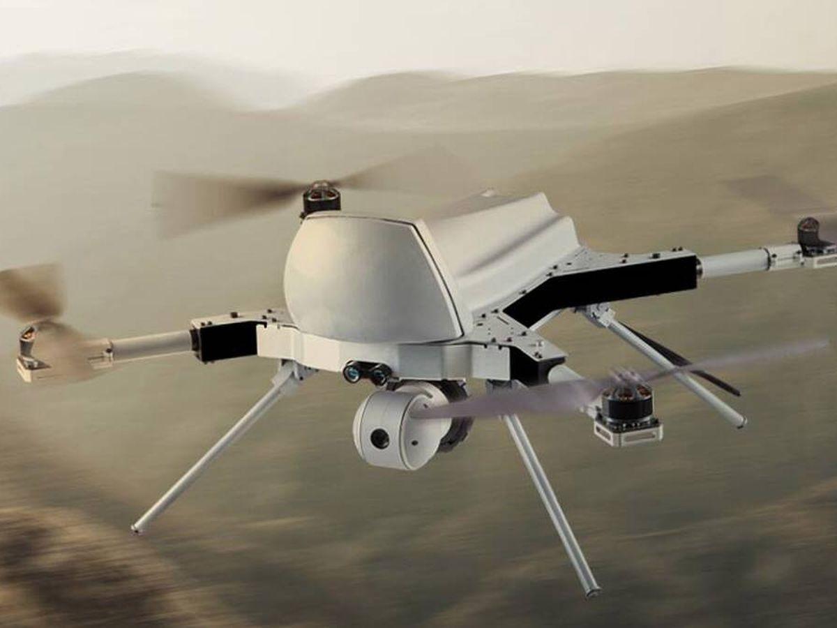 Foto: El Kargu-2 drone es capaz de lanzar bombas autónomamente. (STM)