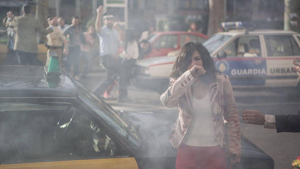 Foto: El atentado de ETA en el Hipercor, en 'Cuéntame'. (TVE)