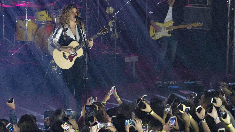 Miriam Rodríguez en su primer concierto en Madrid. (Cordon Press)