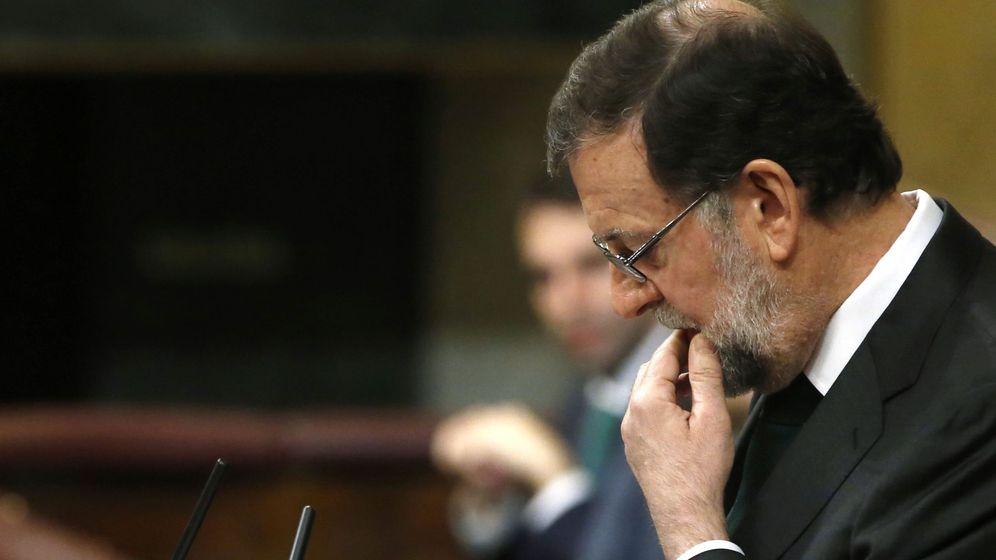 Foto: El expresidente del Gobierno, Mariano Rajoy, durante la moción de censura (Efe)