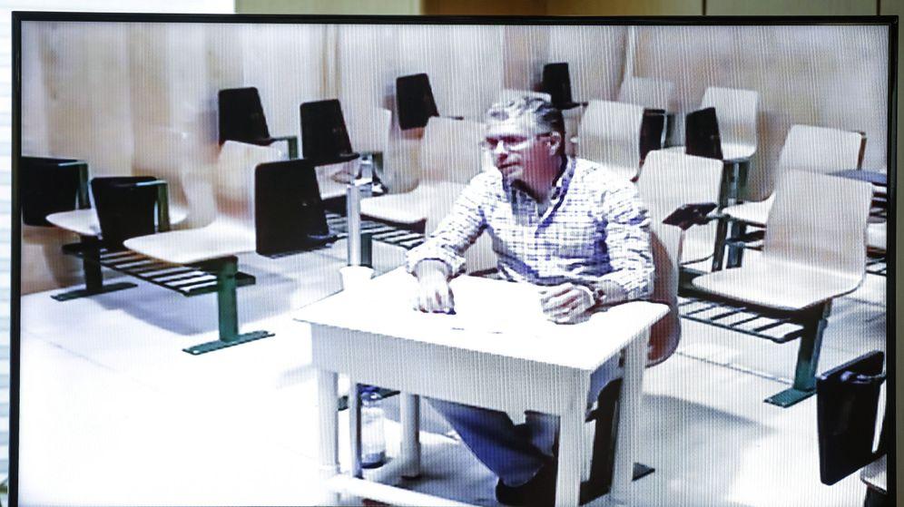 Foto: El exconsejero Francisco Granados, durante su comparecencia por videoconferencia desde la cárcel de Estremera. (EFE)