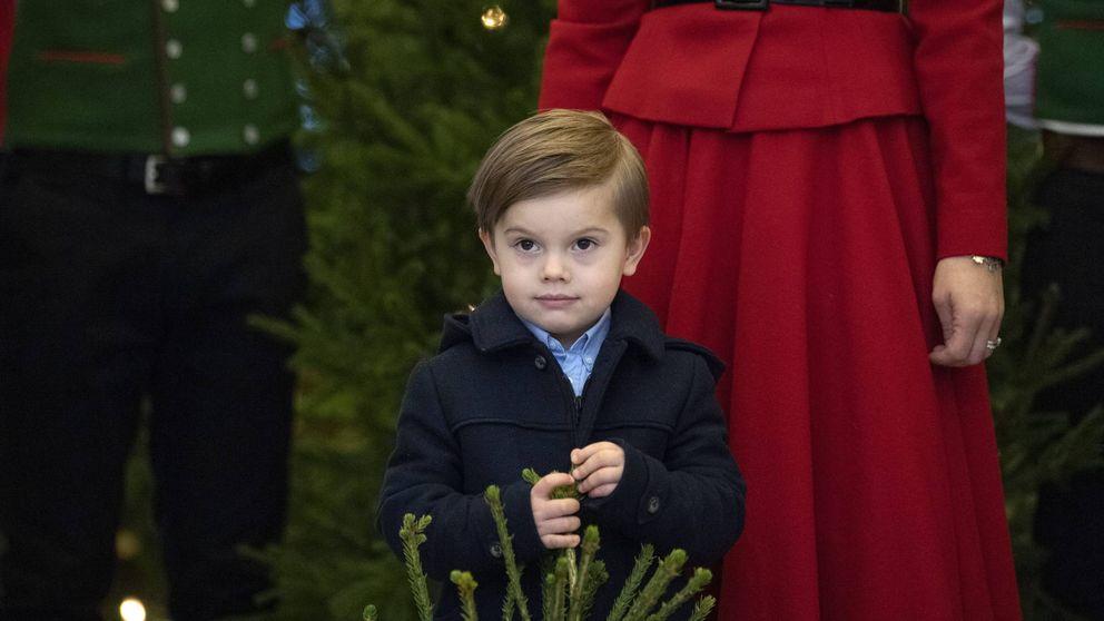 Oscar de Suecia (en ausencia de su hermana) eclipsa a sus padres en la Navidad sueca