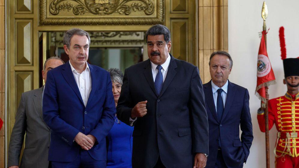 Foto: José Luis Rodríguez Zapatero se reunió con Nicolás Maduro en Caracas en mayo de 2018. (EFE)
