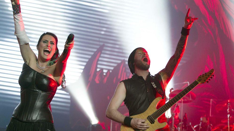 Foto: Within Temptation, uno de los cabezas de cartel del Leyendas del Rock 2015.