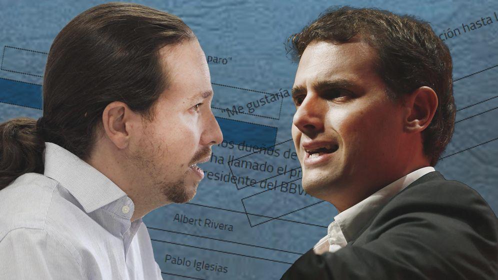 Foto: Debate Pablo Iglesias y Albert Rivera