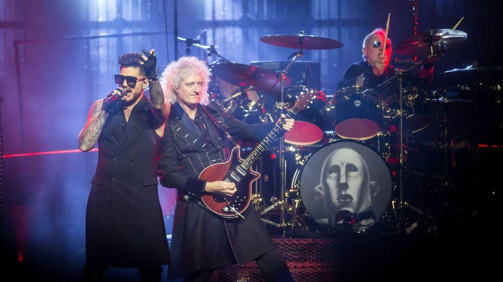 Foto: Adam Lambert y Queen, en Budapest (Reuters)