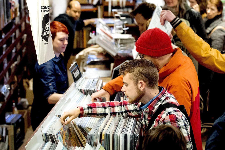 Foto: Imagen del Record Store Day el año pasado en Amsterdam (Efe)