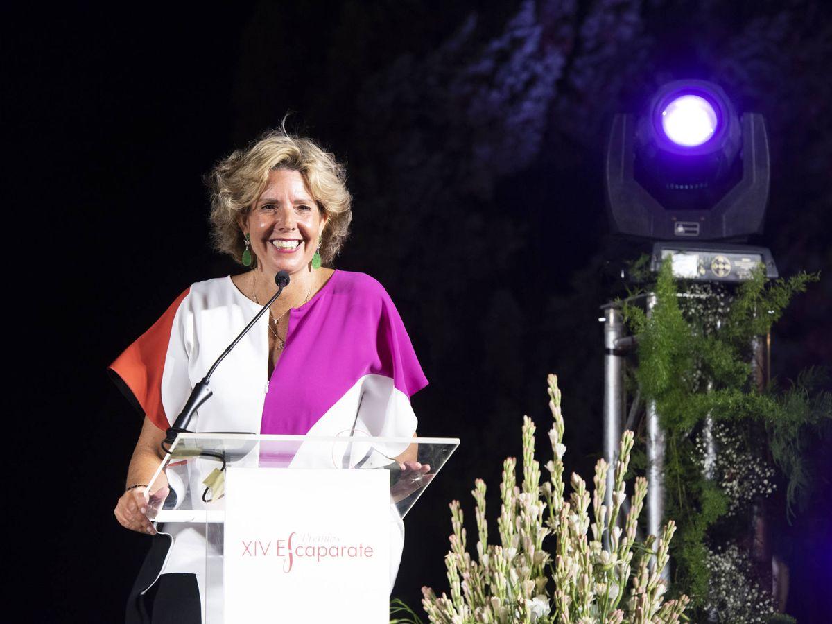 Foto: Simoneta Gómez-Acebo, en un momento de su discurso.