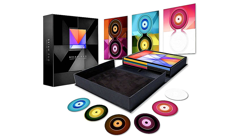 Foto: Edición limitada de Brian Eno, con CDs, un libro y fotografías inéditas.