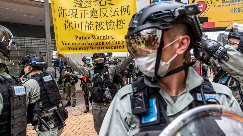 La Policía de Hong Kong prohíbe la manifestación prodemocrática del 1 -J