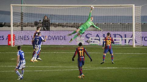 Ter Stegen se convierte en héroe en la tanda de penaltis y mete al Barça en la final (1-1)