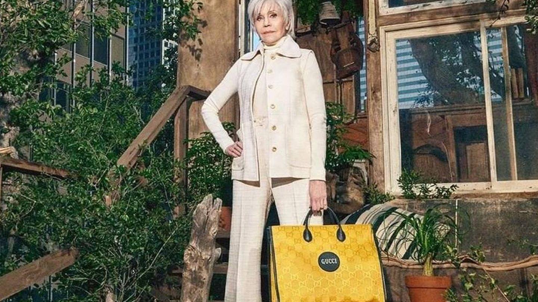 Jane Fonda para Gucci.