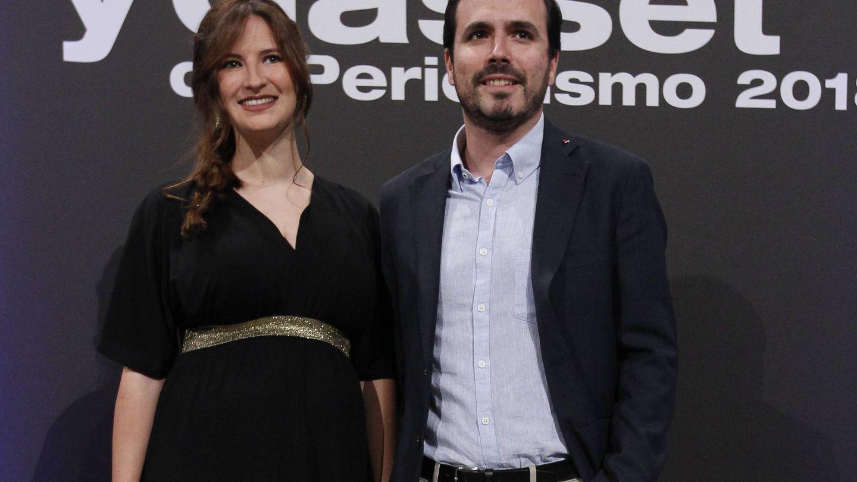 Alberto Garzón y Anna Ruiz en los Premios Ortega y Gasset. (Gtres)