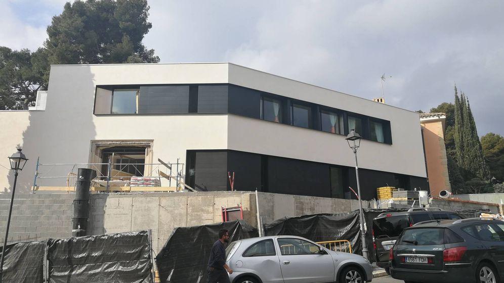 Foto: La nueva fachada del palacete de Pedralbes, la antigua casa de los exduques de Palma. (S.T.)