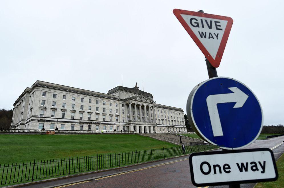 Foto: Vista general del parlamento norirlandés en Stormont, Belfast, en marzo de 2017. (Reuters)