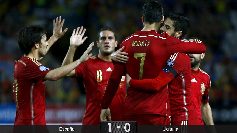 El debut goleador de Morata da un respiro a una España que sólo funciona a ratos ante Ucrania