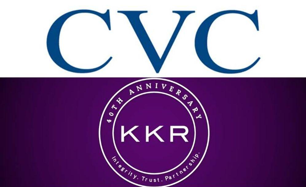 Foto: Logos de CVC y KKR. (EC)