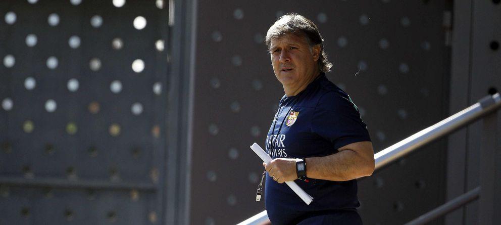 Martino apela al orgullo y la valentía del vestuario para ganar Liga y Copa del Rey