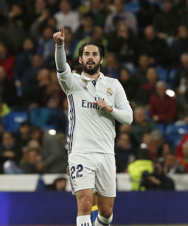 Foto: Isco marcó el primer gol del Real Madrid contra la UD Las Palmas en el partido de este miércoles (Kiko Huesca/EFE)