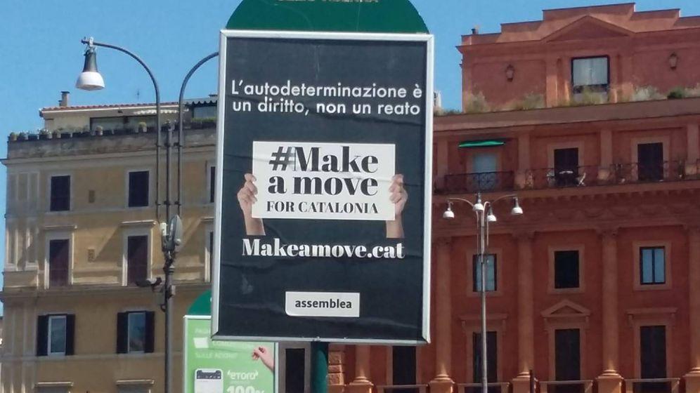 Foto: Cartel de la campaña en Roma. (EC)