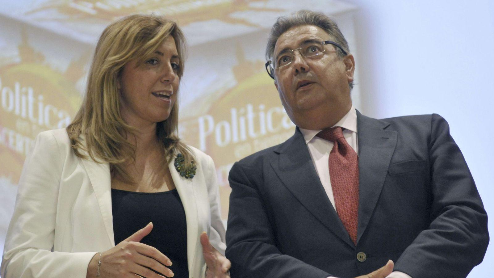 Foto: La presidenta de la Junta de Andalucia, Susana Díaz, y el ministro del Interior, Juan Ignacio Zoido. (EFE)
